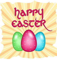 Easter card with text vector