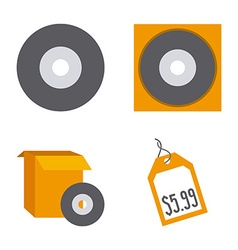 Cd icons vector