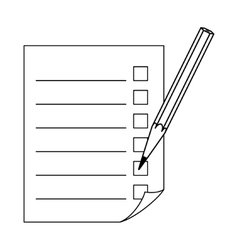Check list and pencil vector