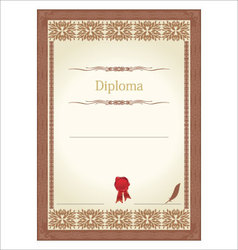 Vintage frame certificate or diploma template vector