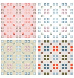 Squares mosaic pattern vector