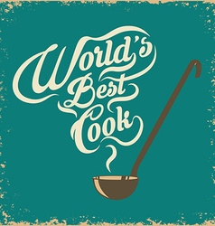 worlds best cook vector image