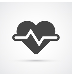 Heartbeat trendy flat icon vector