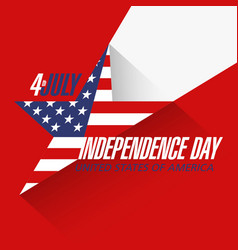 USA Independence Day Sale banner design template vector image