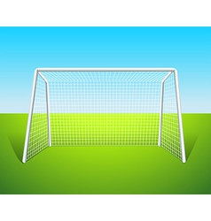 A soccer goal vector