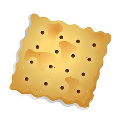 A topview of a biscuit vector
