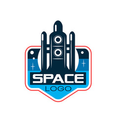 abstract logo of rocket or shuttle launch space vector image vector image
