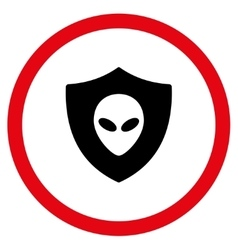 Alien Protection Flat Rounded Icon vector image vector image