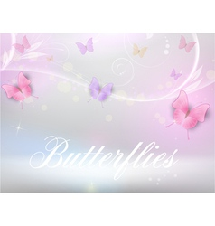 Background with butterflies vector image