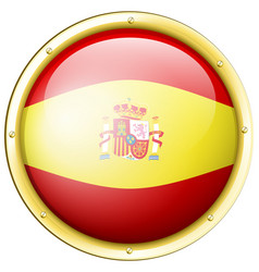Badge design for flag of spain vector