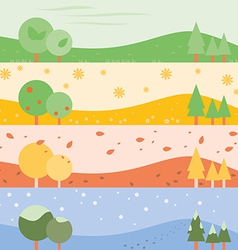 Banner Seasons simple vector image