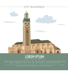 City buildings graphic template morocco vector