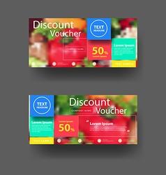 Discount voucher template vector