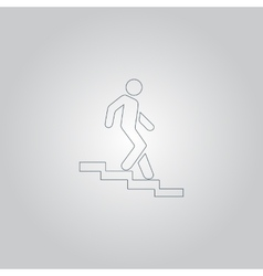Down staircase symbol vector