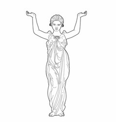 drawing of a caryatid vector image vector image