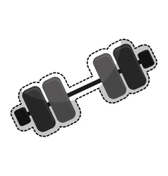 dumbbell weight icon image vector image