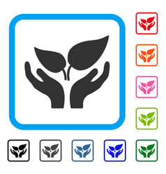 Eco startup framed icon vector