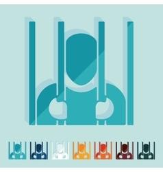Flat design prisoner vector