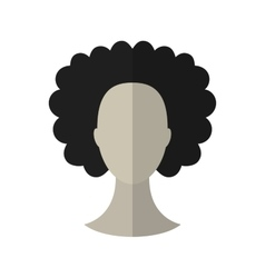 Flat icon hairstyle Brunette Hair wig vector image