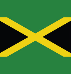 Jamaica flag for independence day and infographic vector
