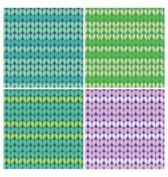 Knitted linen seamless vector
