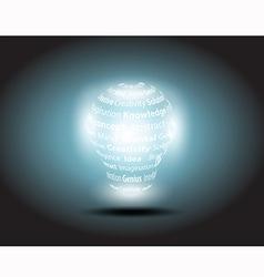 lamp idea vector image vector image