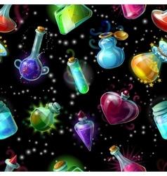 Magic bottles pattern vector