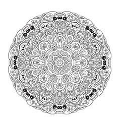 Mandala eastern coloring pattern zentangl round vector