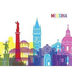 Messina skyline pop vector image