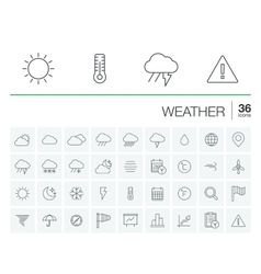 Meteo and weather icons vector