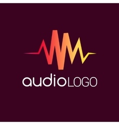 Music Logo concept sound wave studio music DJ vector image vector image