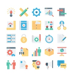 Project management colored icons 3 vector