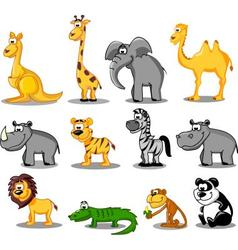 Set of wild animals vector image vector image