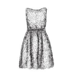 Sketch of women dress vector image