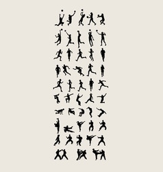 Sport and activity silhouettes vector