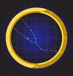 Taurus star horoscope zodiac in fish eye vector