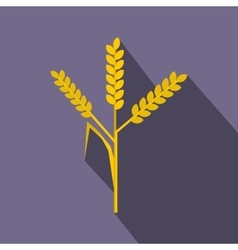 Wheat ears icon flat style vector