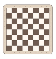 Wooden chess board vector