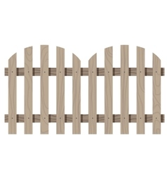Wooden seamless fence rounded shape isolated vector image
