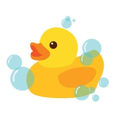 Yellow Rubber Duck Icon vector image