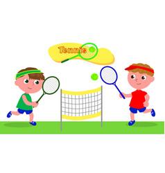 young cartoon tennis player vector image