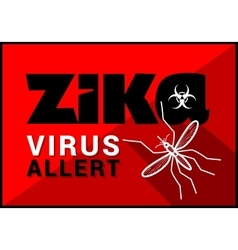 Zika virus allert outline vector
