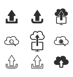 Upload icon set vector