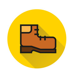 Travel shoe icon on white background vector