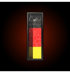Germany cutted figure i vector