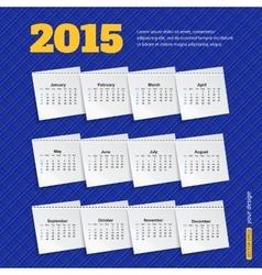2015 calendar template brochure geometric design vector image
