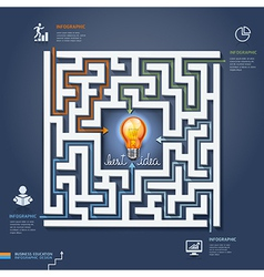 Labyrinth business concept vector image
