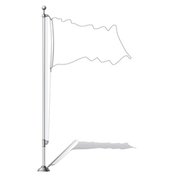 Flag pole vector