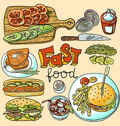 Fast food vector