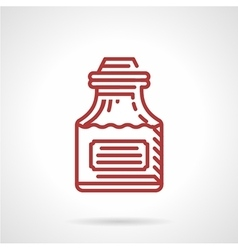 Tattoo ink bottle red line icon vector